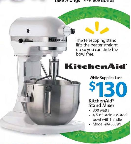 kitchenaid stand mixer 130 black friday foodie nation. Black Bedroom Furniture Sets. Home Design Ideas