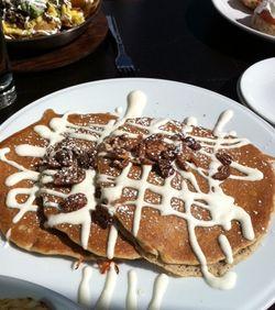 Prasino pancakes